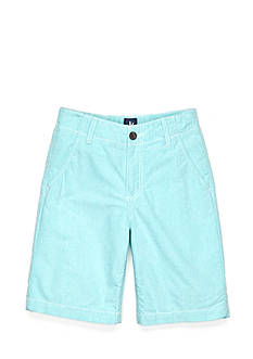 J Khaki™ Flat Front Oxford Shorts Boys 8-20