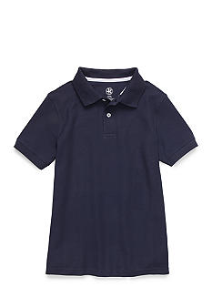 J Khaki Short Sleeve Solid Pique Polo Boy 8-20