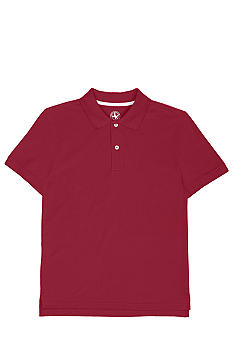 J Khaki Solid Red Hots Pique Polo Knit Boys 8-20