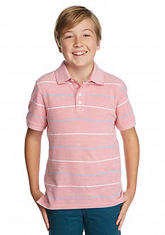 J Khaki™ Short Sleeve Oxford Stripe Polo Boys 8-20