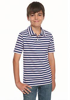 J Khaki™ Short Sleeve Striped Polo Boys 8-20