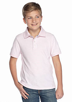 J Khaki™ Short Sleeve Oxford Stripe Polo Boys 8-20