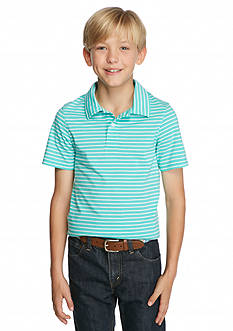 J Khaki™ Short Sleeve Striped Jersey Polo Boys 8-20