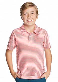 J Khaki™ Short Sleeve Striped Jersey Polo Boys 8-20