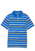 J Khaki Stripe Pique Polo Boys 8-20
