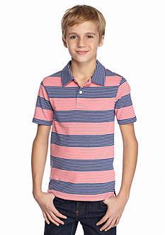 J Khaki™ Short Sleeve Stripe Polo Boys 8-20