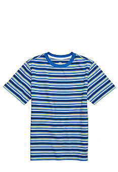 J Khaki Stripe Crew Neck Tee Boys 8-20