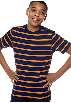 J Khaki Striped Crew Tee Boys 8-20