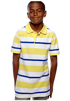 J Khaki Stripe Polo Boys 8-20