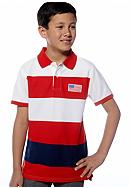 J Khaki™ Striped Polo Boys 8-20