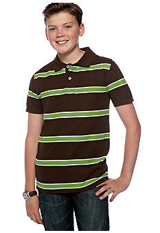 J Khaki Stripe Polo Boys Boys 8-20