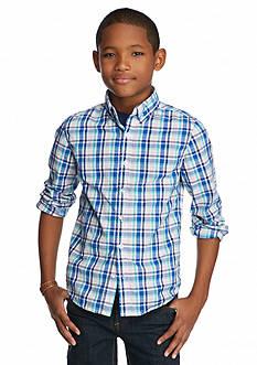 J Khaki™ Long Sleeve Woven Plaid Shirt Boys 8-20