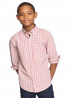 J Khaki™ Long Sleeve Plaid Woven Shirt Boys 8-20