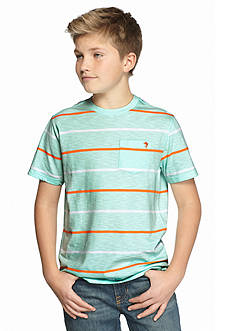 J Khaki™ Striped Pocket Crew Neck Tee Boys 8-20