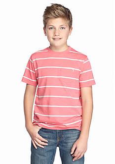 J Khaki™ Striped Pocket Crew Neck Tee Boys 8-20