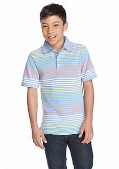 J Khaki™ Oxford Stripe Polo Shirt Boys 8-20
