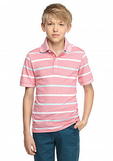 J Khaki™ Oxford Stripe Polo Shirt Boys 8-20