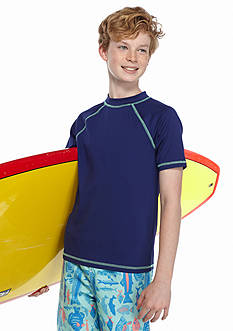 J Khaki™ Short Sleeve Rashguard Tee Boys 8-20