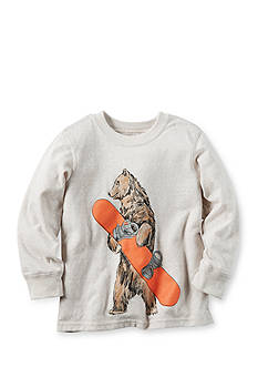 Carter's Boys 4-7 Long-Sleeve Snowboard Bear Tee