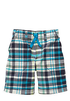 Carter's Blue Plaid Shorts Boys 4-7