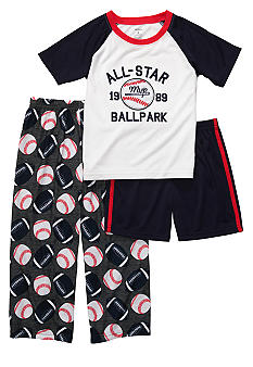 Carter's Sports 3 Piece Pajama Set Boys 4-7