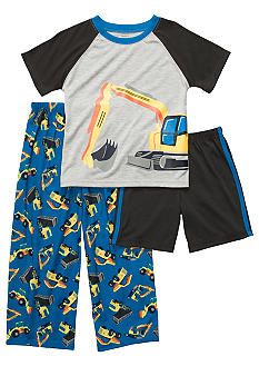 Carter's Construction 3 Piece Pajama Set Boys 8-12