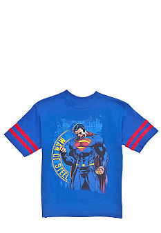 WARNER BROS. Striped Sleeve Superman Tee Boys 4-7