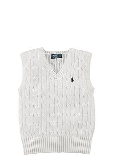 Ralph Lauren Childrenswear Cable-Knit Vest Boys 4-7