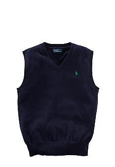 Ralph Lauren Childrenswear Classic Flat-Knit Vest Boys 4-7