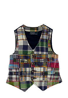 Ralph Lauren Childrenswear Patchwork Madras Vest Boys 4-7