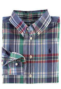 Ralph Lauren Childrenswear Preppy Plaid Button-Down Boys 4-7