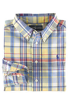 Ralph Lauren Childrenswear Plaid Button Front Woven Shirt Boys 4-7