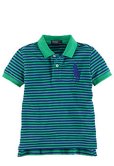 Ralph Lauren Childrenswear Striped Big Pony Mesh Polo Boys 4-7