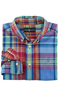 Ralph Lauren Childrenswear Classic Plaid Shirt Boys 4-7