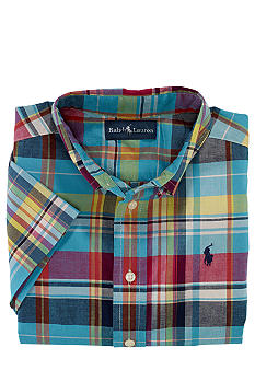 Ralph Lauren Childrenswear Madras Print Shirt Boys 4-7
