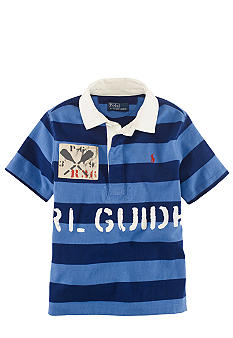 Ralph Lauren Childrenswear Blue Sporty Short Sleeved Polo Boys 4-7