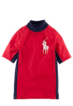 Ralph Lauren Childrenswear Colorblock Rash Guard Boys 4-7