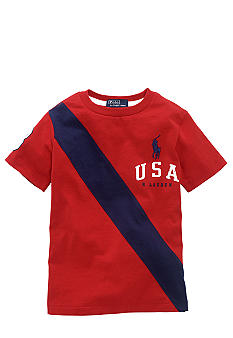 Ralph Lauren Childrenswear USA Banner Tee Boys 4-7