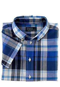 Ralph Lauren Childrenswear Blake Madras Plaid Shirt Boys 4-7