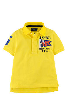Ralph Lauren Childrenswear Screenprint Coastal Patrol Rugby Shirt Boys 4-7