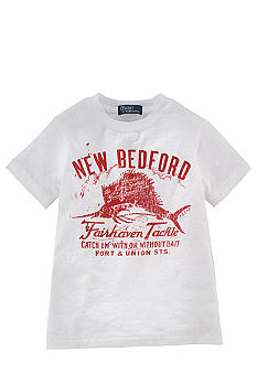 Ralph Lauren Childrenswear Fishing Graphic Tee Boys 4-7