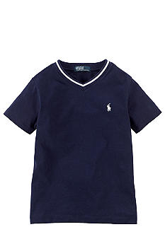 Ralph Lauren Childrenswear Cotton Jersey V-Neck Tee Boys 4-7