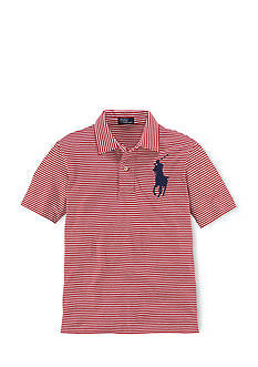Ralph Lauren Childrenswear Striped Big Pony Polo Shirt Boys 4-7