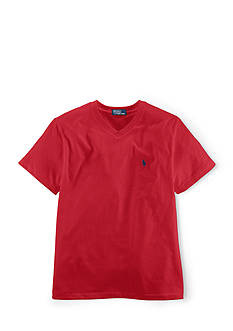 Ralph Lauren Childrenswear Jersey V-Neck Tee Shirt Boys 4-7