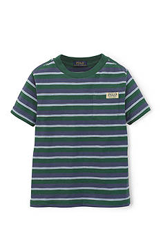 Ralph Lauren Childrenswear Preppy Striped Space-Dyed Tee Shirt Boys 4-7