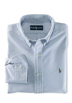 Ralph Lauren Childrenswear Stripe Oxford Cotton Shirt Boys 4-7