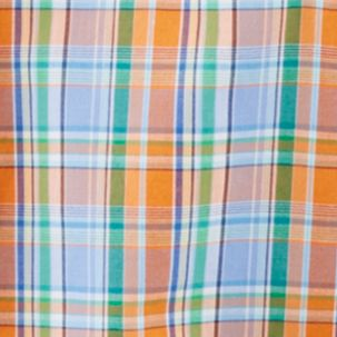 Little Boys Dress Clothes: Orange Multi Ralph Lauren Childrenswear Plaid Oxford Shirt Boys 4-7