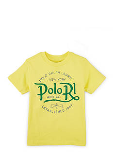 Ralph Lauren Childrenswear Crew Neckline Graphic Tee Boys 4-7