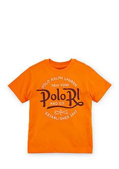 Ralph Lauren Childrenswear Crew Neckline Graphic Tee Boys 4-7