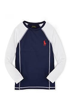Ralph Lauren Childrenswear Colorblock Rash Guard Boys 4-7